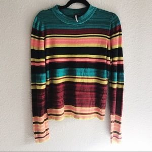 Free People colorful striped sweater